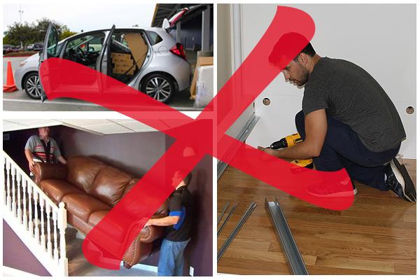 Cipekedés, szerelgetés, sérülések az új bútoron és legtöbbször a lakásban is…